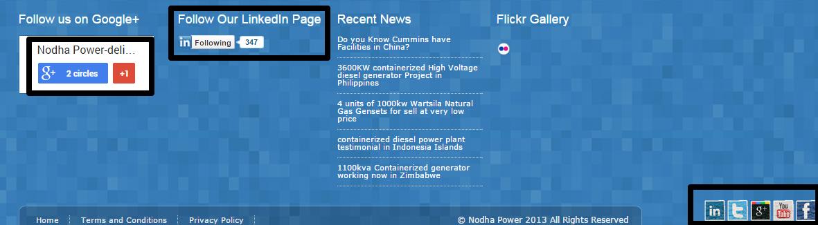 外贸B2B网站社交媒体设置-NodhaPower